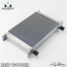 "25 Row 8AN Universal Engine Transmission Oil Cooler 3/4""UNF16 AN-8 Silver"