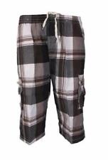 Polyester Checked Loose Fit Big & Tall Shorts for Men