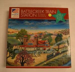 The Great American Puzzle Factory Battle Creek Train Station 18x24 550pcs Puzzle