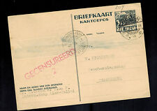 1941 Sumatra Netherlands Indies Postcard Cover German Prisoner Internment Camp