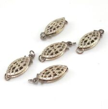 Vintage Sterling Silver Art Deco Filigree Clasp Findings
