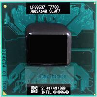 Intel Core 2 Duo T7700 2,4GHz Prozessor CPU SLA43 SLAF7 Sockel P 4M 800MHz RHN02