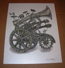 """EMEK 3X4/"""" SKULLS grateful dead STICKER Art from silkscreen poster print"""