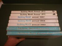 YACHTING WORLD ANNUALS   X7 1954/1972  EARLY EDITIONS DJKTS VGC  LOW POST UK
