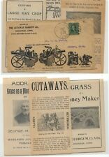 US  nice  farm  machinery  ad cover  with losds of enclosures