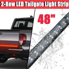 """48"""" Double Row LED Truck Tailgate Light Bar Strip Red/White Reverse Stop"""