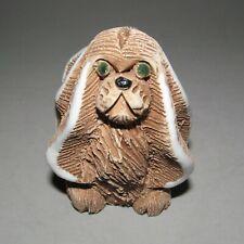 Artesania Torreon Pekingese Dog Figurine #66 Vintage Pottery Hand Carved Uruguay