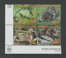 IVORY COAST 2005 WWF - OTTERS BLOCK OF 4 *VF MNH*