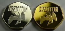 LED ZEPPELIN.DUO SET. 50p COIN COLLECTORS.COIN HUNT.GOLD AND SILVER PLATED. NEW