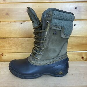 Women's The North Face Shellista II Boots Size 7 Brown