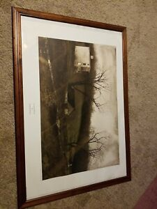 """Andrew Wyeth """"Evening At Kuerners"""" 1976  N. Y.  Graphic Soc. Size in description"""