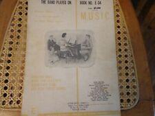 The Band Played On - Chord Organ Sheet Music Vintage 1961