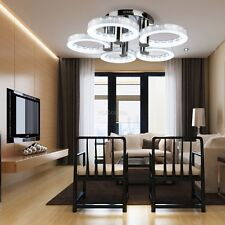 18W Round  5LED Flush Mount Silver Chandelier Ceiling Light Dining Room Lamp