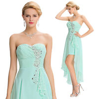 NEW Strapless High-Low Chiffon Ball Evening Prom Party Dress Cocktail Sweetheart
