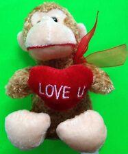SOFT CHIMP MONKEY W/HEART 'BEST MADE TOYS, LTD' 2009 SUPER CLEAN!!