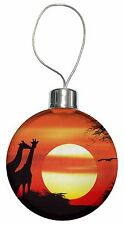 Sunset Giraffes Christmas Tree Bauble Decoration Gift, AG-1CB