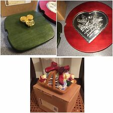 Longaberger LoT Little Gifts HolidayTopper Red Be My Valentine Lucky Wish 3 LIDS