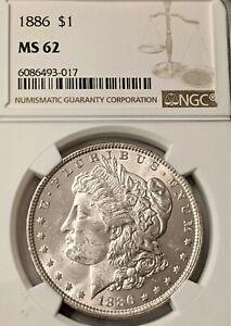 1879 S Morgan Silver Dollar NGC MS62  NICE COIN -  PL LIKE MIRROR