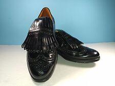 Vintage Towncraft Corfam Long Wing Tip Kiltie Black Oxford Golf Shoes Men 9 M