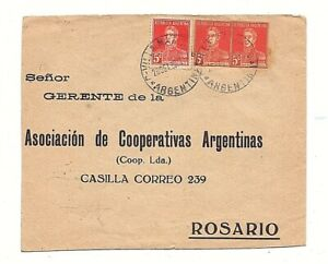 Argentina 1932 covers with 5 cts and 2 to cutout from 5 cts  Postal Stationary!!