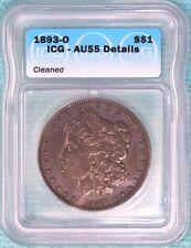 1893-O AU-55 Details Morgan Silver Dollar $1