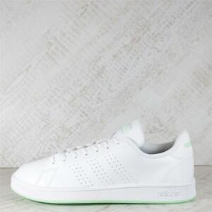 Womens adidas Advantage Base White/Mint Trainers (95C17) RRP £69.99