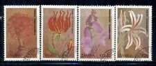 ZAMBIA 482-85 SG604-07 CTO 1989 Christmas Flowers set of 4 Cat$7