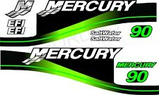 GREEN MERCURY 90 OUTBOARD FOUR STROKE MOTOR STICKERS DECAL KIT ENGINE