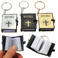 Mini Bible Keychains English HOLY BIBLE Religious Christian Jesus Cross Keyrings