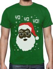 Yo Yo Yo Black Santa Ugly Christmas Sweater T-Shirt Funny Xmas Gift