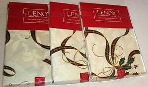 LENOX Holiday Nouveau Ribbon Tablecloth Assortment [Your Choice]