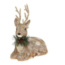 Country Christmas Lying Down Reindeer Ornament
