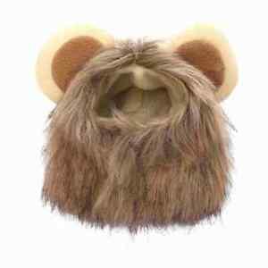 Lion-head Mane Fake Hair Fur Headgear Small Cat Dog Puppy Pet Costume Cosplay