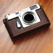 Funper Nikon S3 Camera Half Case Handmade Genuine Leather Protective Cover New