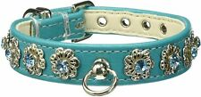 Mirage Pet Products Starlite Pet Collar, Size 12, Turquoise NEW🔥