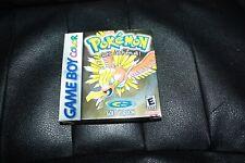 Pokemon: Gold Version (Game Boy Color, 2000) GBC CIB COMPLETE