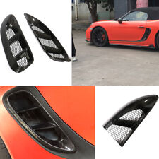 For Porsche 718 Boxster Cayman 16-18 Side Air Scoop Vents Intake Cover Carbon