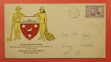 Dr Who 1947 Newfoundland Canada Fdc 450Th Anniv Discovery Of Nfld C219253
