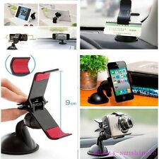 Universal 360°Rotating Cars Windshield Mount Holder Stand For Mobile Phone W GPS