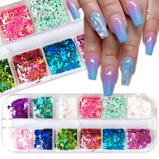 Butterfly Nail Sequins Paillette Mixed Colors Nail Colorful Glitters 3D Slices A