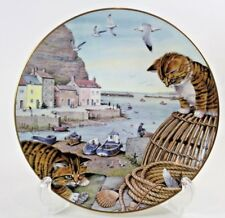 Peter Barrett All Creatures Great Small Fisherman's Harbour Plate 1987