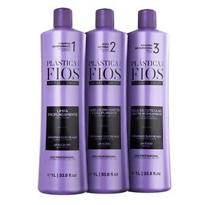 Plastica Dos Fios 3x1000ml Brazilian Keratin Treatment - Cadiveu Professional