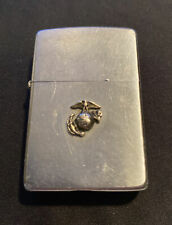 "Vintage 1969 ZIPPO LIGHTER "" U.S. MARINES "" ADV. medallion-eagle-earth-anchor"