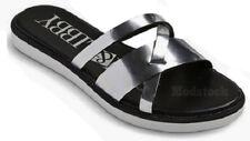 Sam & Libby Jamie Silver Slide Sandals Women's Size 6