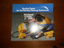 NOS Kirtland Vintage Tour Pak Brochure Quality Packs for the Serious Enthusiast