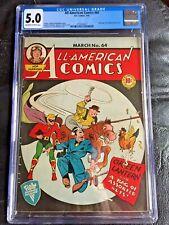 ALL AMERICAN COMICS #64 CGC VG/FN 5.0; OW-W; Hop Harrigan! rare!