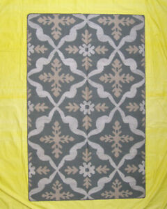 Afghan Wool Handwoven Carpet Home Décor Navajo Rugs Green Color Kilim 5'x8' Size