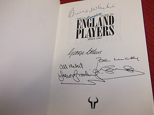 Book. Football FA Guide England Players Signed By Wright Cohen Brooking Sansom