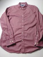 Banana Republic Mens Soft Wash Slim Fit Shirt Size L Red Long Sleeve Button Up