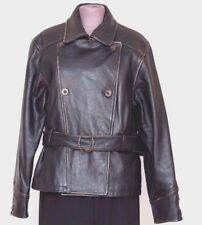 Women's Leather Moto Jacket M Medium Black Insulated Motorcycle COLEBROOK